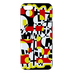 Red and yellow chaos iPhone 5S/ SE Premium Hardshell Case