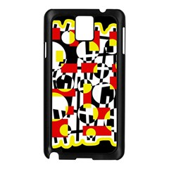 Red and yellow chaos Samsung Galaxy Note 3 N9005 Case (Black)