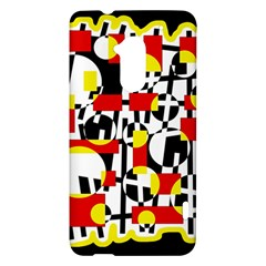 Red and yellow chaos HTC One Max (T6) Hardshell Case