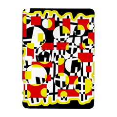 Red and yellow chaos Samsung Galaxy Note 10.1 (P600) Hardshell Case