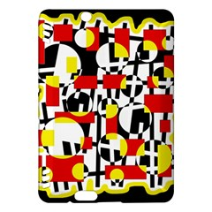 Red and yellow chaos Kindle Fire HDX Hardshell Case