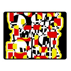 Red and yellow chaos Double Sided Fleece Blanket (Small)