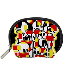 Red and yellow chaos Accessory Pouches (Small)