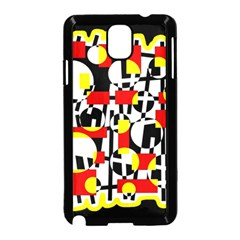 Red and yellow chaos Samsung Galaxy Note 3 Neo Hardshell Case (Black)
