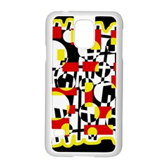 Red and yellow chaos Samsung Galaxy S5 Case (White)