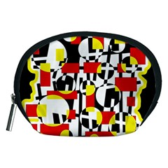 Red and yellow chaos Accessory Pouches (Medium)