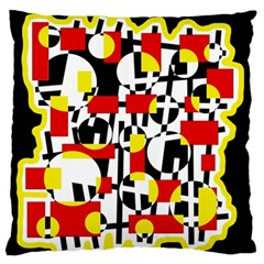 Red and yellow chaos Standard Flano Cushion Case (One Side)