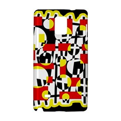 Red and yellow chaos Samsung Galaxy Note 4 Hardshell Case