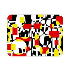 Red And Yellow Chaos Double Sided Flano Blanket (mini)