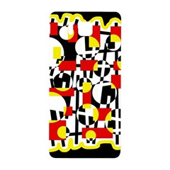 Red and yellow chaos Samsung Galaxy Alpha Hardshell Back Case