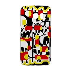 Red and yellow chaos Galaxy S6 Edge