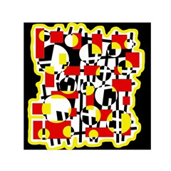 Red and yellow chaos Small Satin Scarf (Square)