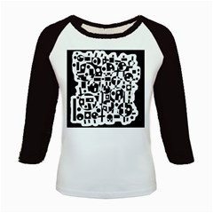 Black and white abstract chaos Kids Baseball Jerseys