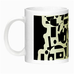 Black and white abstract chaos Night Luminous Mugs