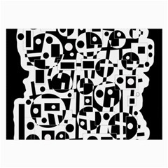 Black and white abstract chaos Large Glasses Cloth (2-Side)