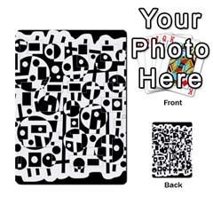 Black and white abstract chaos Multi-purpose Cards (Rectangle)