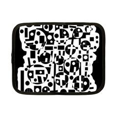 Black and white abstract chaos Netbook Case (Small)