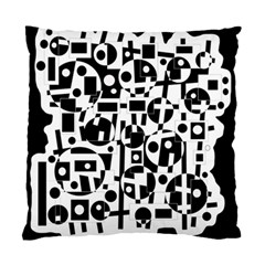 Black and white abstract chaos Standard Cushion Case (Two Sides)