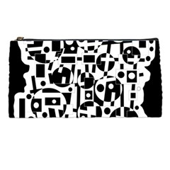 Black and white abstract chaos Pencil Cases