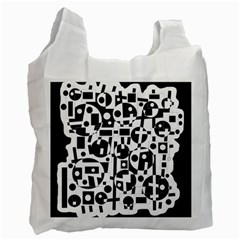 Black and white abstract chaos Recycle Bag (One Side)