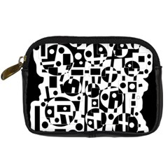 Black and white abstract chaos Digital Camera Cases