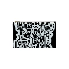 Black and white abstract chaos Cosmetic Bag (Small)
