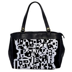 Black and white abstract chaos Office Handbags