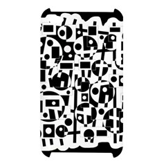 Black and white abstract chaos Apple iPod Touch 4