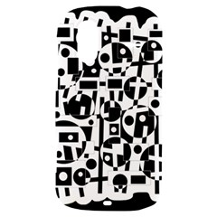 Black and white abstract chaos HTC Amaze 4G Hardshell Case