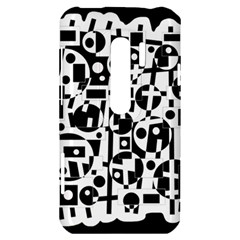 Black and white abstract chaos HTC Evo 3D Hardshell Case