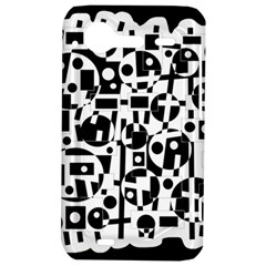 Black and white abstract chaos HTC Incredible S Hardshell Case