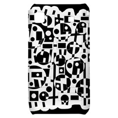 Black and white abstract chaos Samsung Galaxy S i9000 Hardshell Case