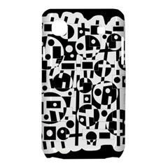 Black and white abstract chaos Samsung Galaxy SL i9003 Hardshell Case