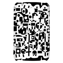 Black and white abstract chaos Samsung S3350 Hardshell Case