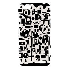 Black and white abstract chaos HTC One V Hardshell Case