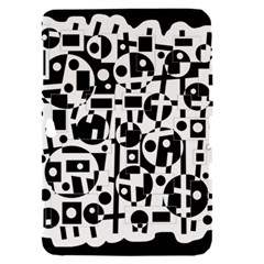 Black and white abstract chaos Samsung Galaxy Tab 8.9  P7300 Hardshell Case