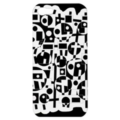 Black and white abstract chaos Apple iPhone 5 Hardshell Case
