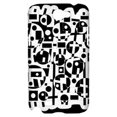 Black and white abstract chaos Samsung Galaxy Note 2 Hardshell Case