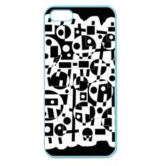 Black and white abstract chaos Apple Seamless iPhone 5 Case (Color)