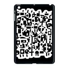 Black and white abstract chaos Apple iPad Mini Case (Black)