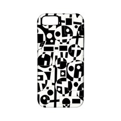 Black and white abstract chaos Apple iPhone 5 Classic Hardshell Case (PC+Silicone)