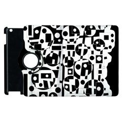 Black and white abstract chaos Apple iPad 2 Flip 360 Case