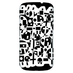 Black and white abstract chaos Samsung Galaxy S3 S III Classic Hardshell Back Case