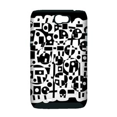 Black and white abstract chaos Samsung Galaxy Note 2 Hardshell Case (PC+Silicone)