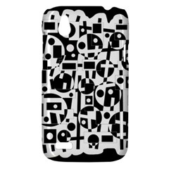 Black and white abstract chaos HTC Desire V (T328W) Hardshell Case