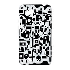 Black and white abstract chaos HTC Desire VC (T328D) Hardshell Case