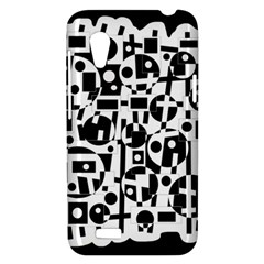 Black and white abstract chaos HTC Desire VT (T328T) Hardshell Case