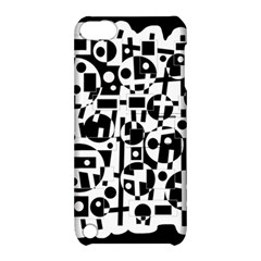 Black and white abstract chaos Apple iPod Touch 5 Hardshell Case with Stand