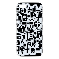Black and white abstract chaos Apple iPhone 5 Premium Hardshell Case