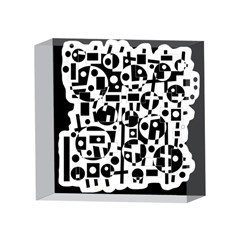 Black and white abstract chaos 4 x 4  Acrylic Photo Blocks